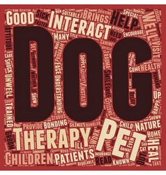 Pets Help Heal text background wordcloud concept vector image
