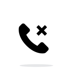 Phone call cancel simple icon on white background vector image