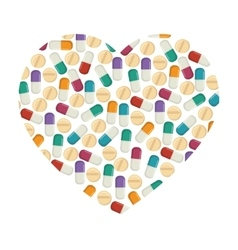 Pill capsule drug heart vector