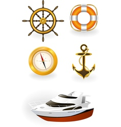sea symbols vector image