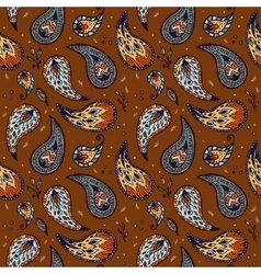 Seamless pattern in paisley design vector
