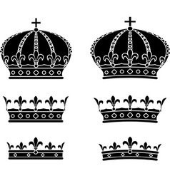 Set of crowns stencils vector
