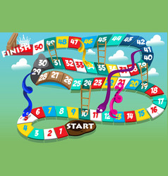 snakes and ladders game vector image