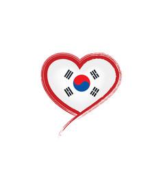 South korean flag on a white vector