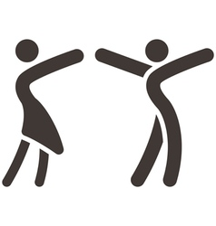 sport dancing icon vector image