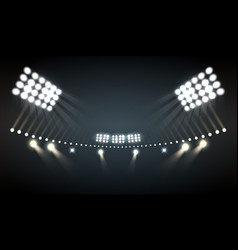Stadium lights background vector