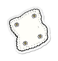 Sticker a cartoon handkerchief vector