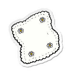 Sticker of a cartoon handkerchief vector