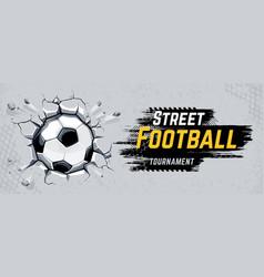 street football design vector image