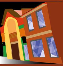 street intelligent buildings vector image