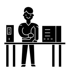 system administrator icon vector image