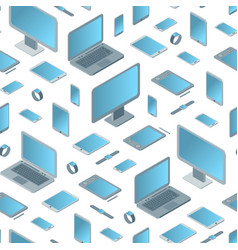 technology devices seamless pattern background vector image
