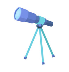 Telescope for schools device for astronomy vector