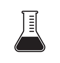 Test tube icon clinically tested and medically vector