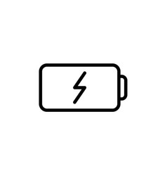 thin line battery icon vector image