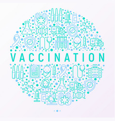 Vaccination concept in circle vector