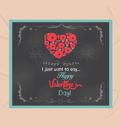 valentines day written on chalkboard vector image