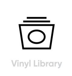 vinyl record library icon vector image