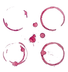 Wine Stain Rings Set 1 vector