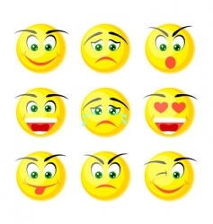 yellow smile icons vector image