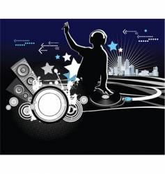 dj music concept vector image vector image