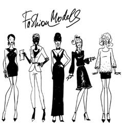 Fashion models vector