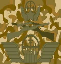 Military Logo Sniper vector image vector image