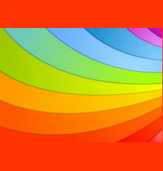 Rainbow waves background vector image vector image