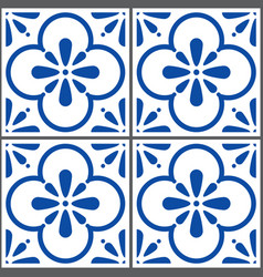 azulejos tiles pattern portuguese seamless vector image vector image