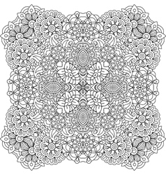 Beautiful colorless geometric patterns on white vector image