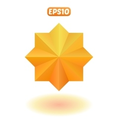 Bright gold star vector image vector image