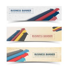 business vintage horizontal banners set vector image vector image