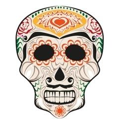 Day of dead painted skull dia de muertos vector