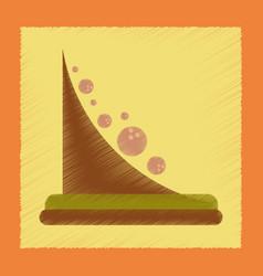 flat shading style icon mountain rocks vector image