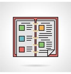 Food menu flat color icon vector image