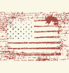 grunge usa flag vintage american flag vector image
