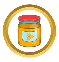Jar of honey icon vector image vector image