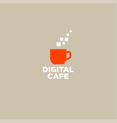 logo digital cafe communication chat icon vector image