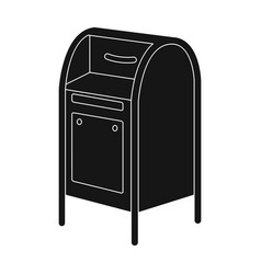 mailboxmail and postman single icon in black vector image vector image