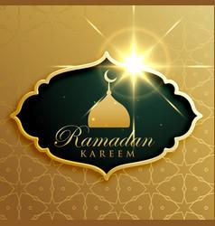 ramadan kareem festival greeting design in vector image