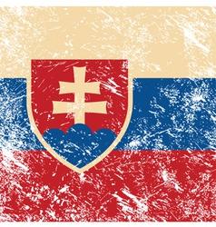 Slovakia retro flag vector image vector image