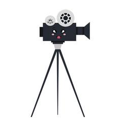 video camera cinema kawaii character vector image