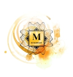 Fashion monogram with M letter vector image