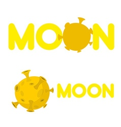 Moon Companys logo with a yellow planet vector image