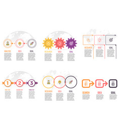 business infographics presentation templates with vector image