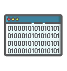 custom coding filled outline icon seo vector image