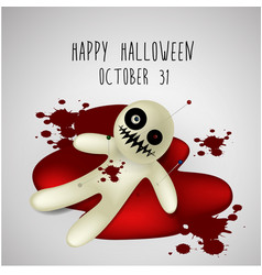 halloween background ghost on blood vector image vector image