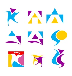 icon design element set vector image vector image