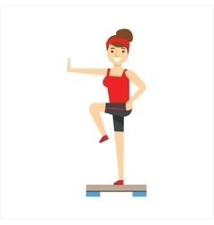 Woman In Aerobics Class Member Of The Fitness vector image