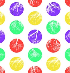 Abstract Colorful Circles Seamless Pattern vector image vector image